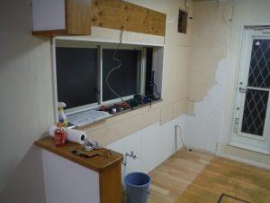システムキッチンの撤去完了