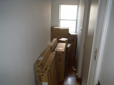 廊下と玄関をうめるシステムキッチンのパーツ