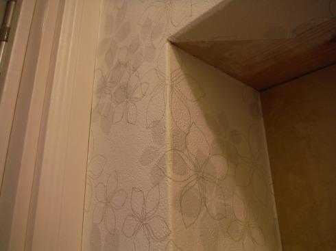 出隅部分の壁紙の処理