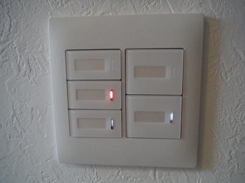 2連の5個スイッチ ハンドルの数が3個以上はネームにしました