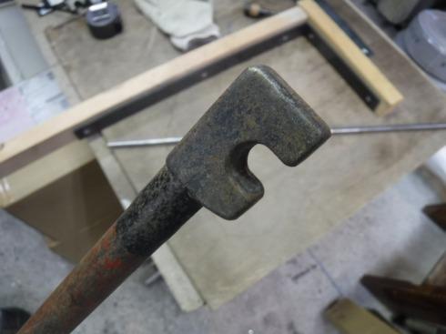 鉄筋ベンダーの先端