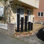芝生の庭 コンクリート化施工前