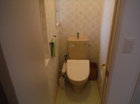 かわいいトイレの完成です