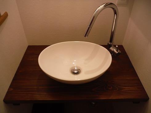 混合水栓と洗面台のマッチングは良好