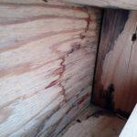 壁内の雨漏りの痕